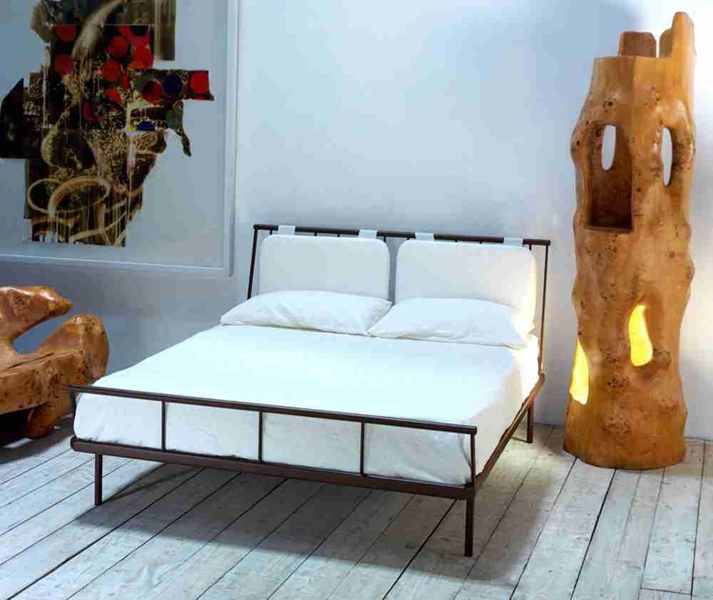 Letto in ferro con cuscini modello ACAPULCO - Vendita