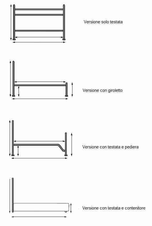 Misure Letto Piazza E Mezza.Letto Piazza E Mezza In Ferro Modello Veronica Vendita