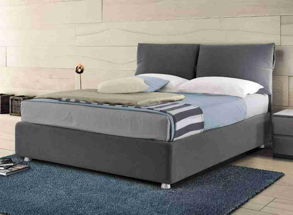Letto per materasso largo 180 cm imbottito modello GRETA - KING SIZE